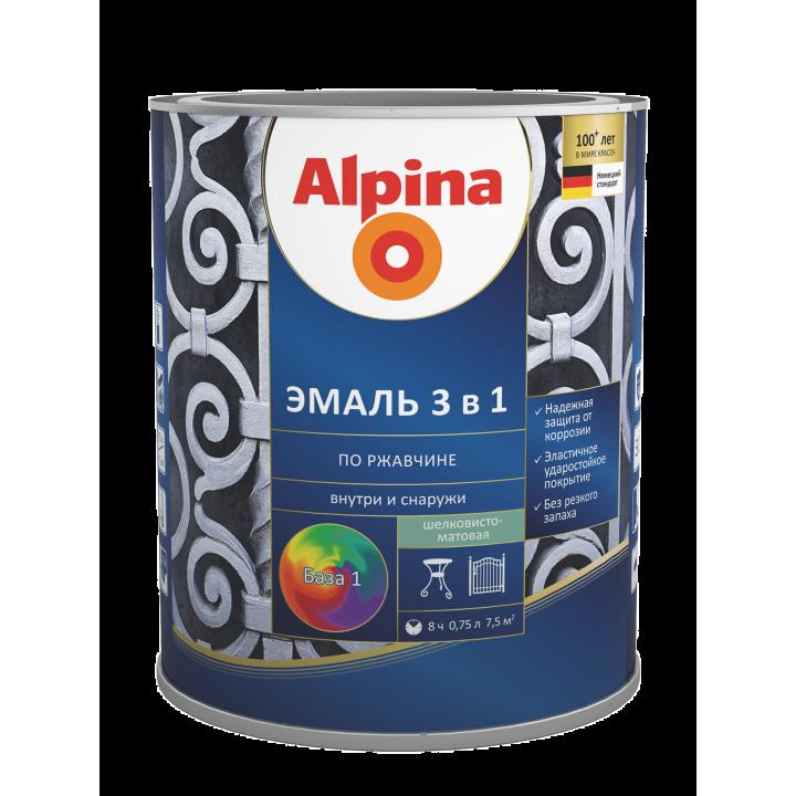 Alpina Эмаль по ржавчине 3 в 1 эмаль алкидно-уретановая
