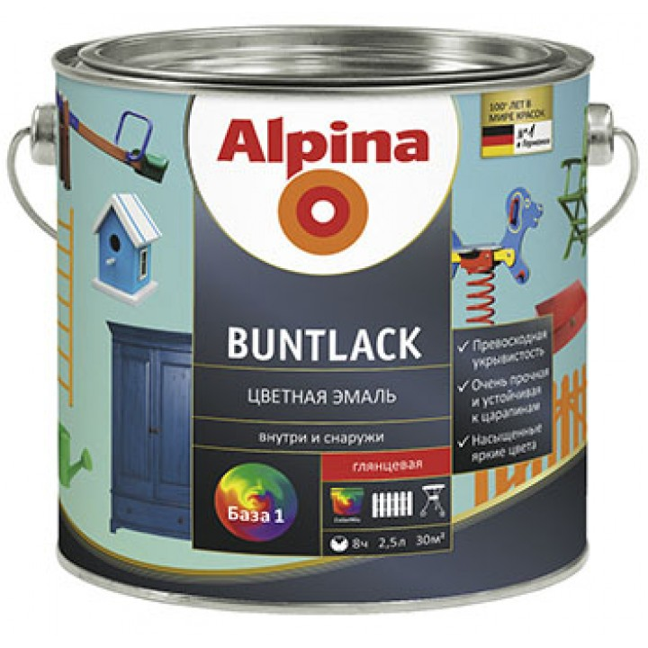 Alpina Buntlack эмаль алкидная