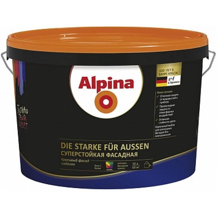 Alpina die Starke fuer Aussen краска суперстойкая фасадная