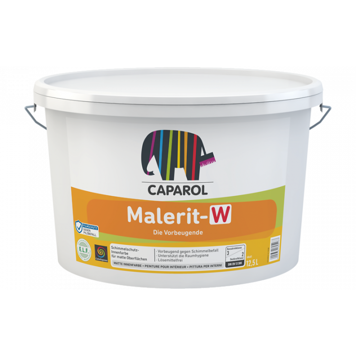Caparol Malerit-W краска интерьерная с биоцидными добавками