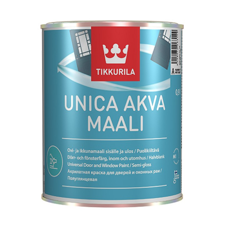 TIKKURILA UNICA AKVA MAALI краска акрилатная для окон и дверей