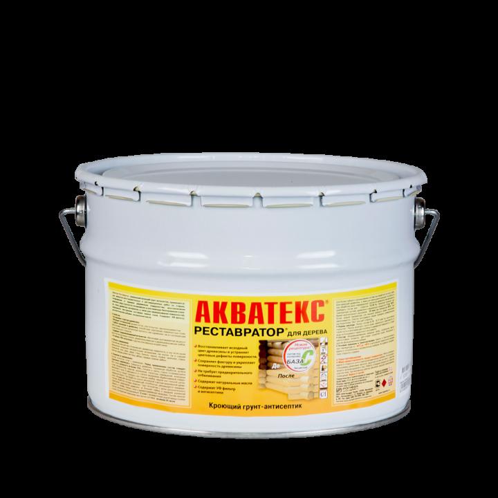 АКВАТЕКС - РЕСТАВРАТОР кроющее защитно-декоративное покрытие для древесины