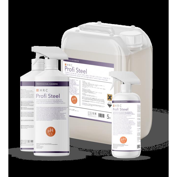 PROFI Steel универсальное средство для очистки пищевого оборудования и изделий из нержавеющей стали и хрома