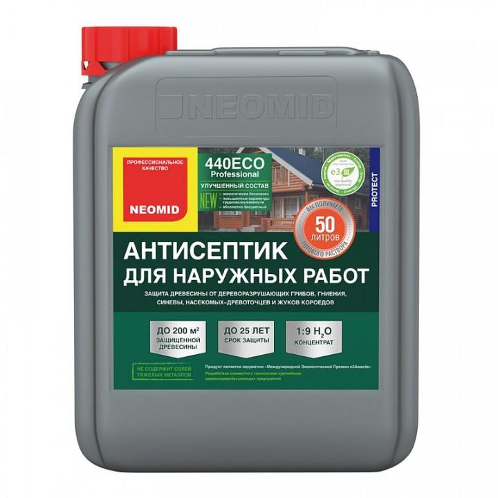 NEOMID 440 ECO бесцветный антисептик для защиты древесины