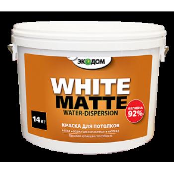 ЭКОДОМ краска для потолков белая водоэмульсионная