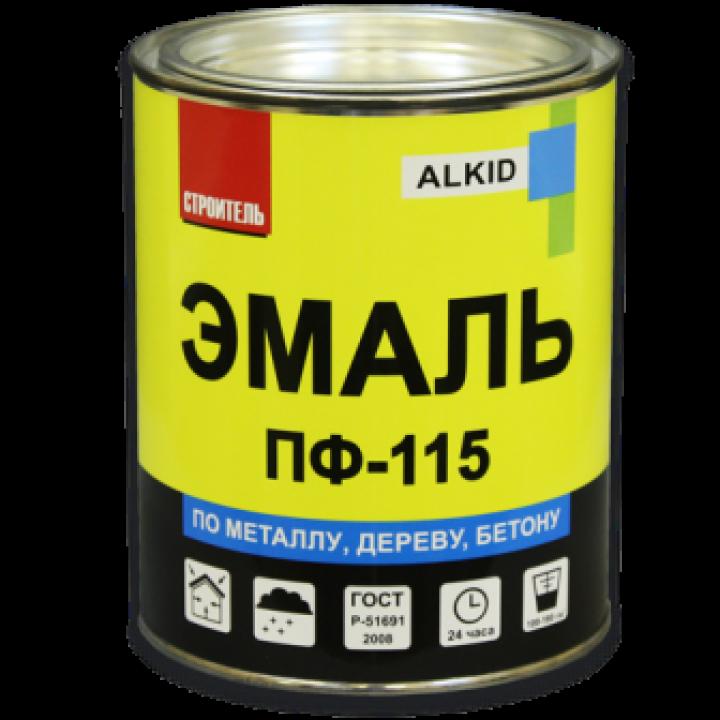 СТРОИТЕЛЬ Эмаль алкидная ПФ-115