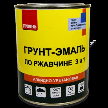 СТРОИТЕЛЬ Грунт-эмаль 3в1 алкидная