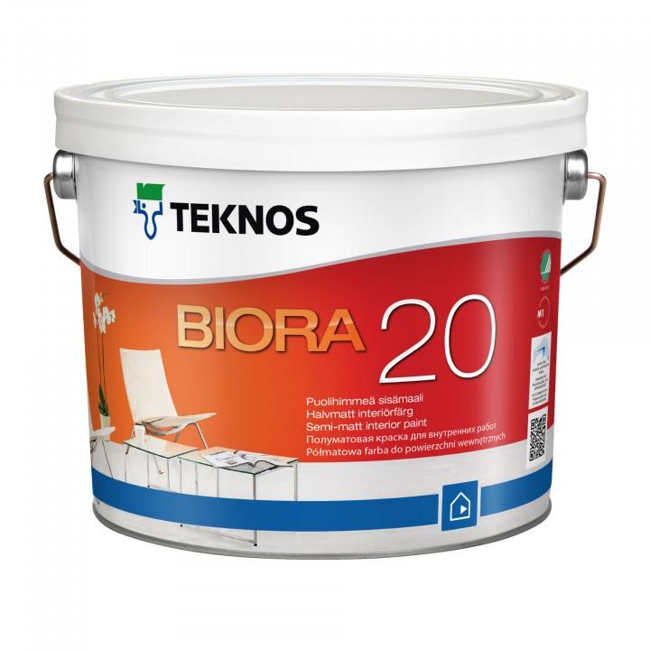 TEKNOS BIORA 20 краска акрилатная для стен и потолка