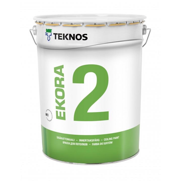 TEKNOS EKORA 2 краска дисперсионная для потолков