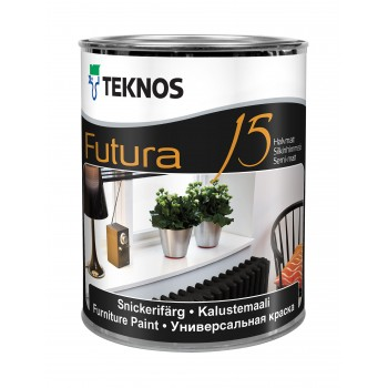 TEKNOS FUTURA 15 краска универсальная для деревянных и загрунтованных металлических поверхностей