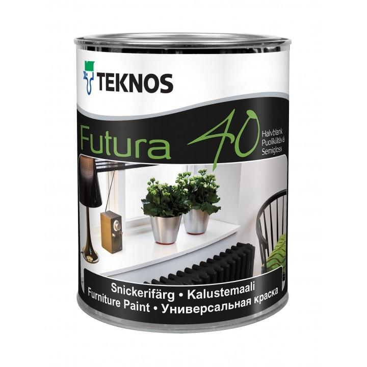 TEKNOS FUTURA 40 краска универсальная для финишной окраски дерева и загрунтованного металла