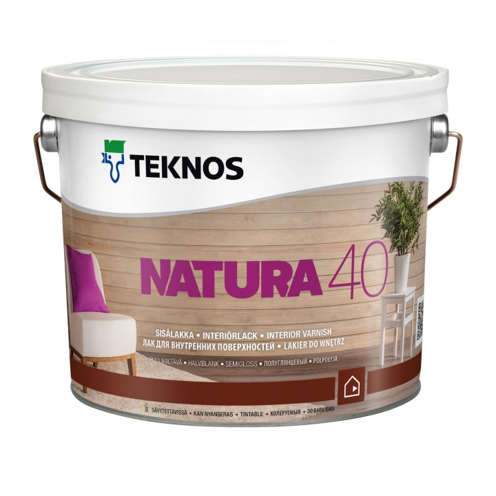 TEKNOS NATURA 40 лак для внутренних поверхностей полуглянцевый