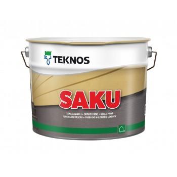 TEKNOS SAKU краска для цокольных и бетонных опорных стен