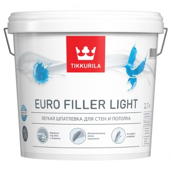 TIKKURILA EURO FILLER LIGHT шпатлевка для стен и потолка