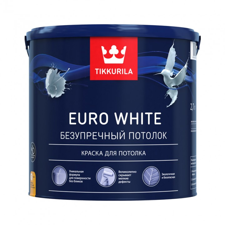 TIKKURILA EURO WHITE краска для потолка