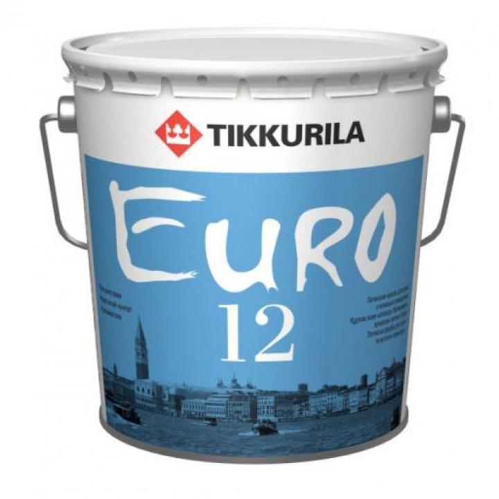 TIKKURILA EURO 12 краска интерьерная стойкая к мытью для стен и потолков