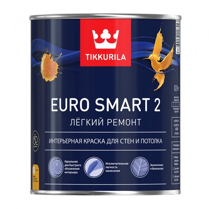 TIKKURILA EURO SMART 2 краска интерьерная для стен и потолка