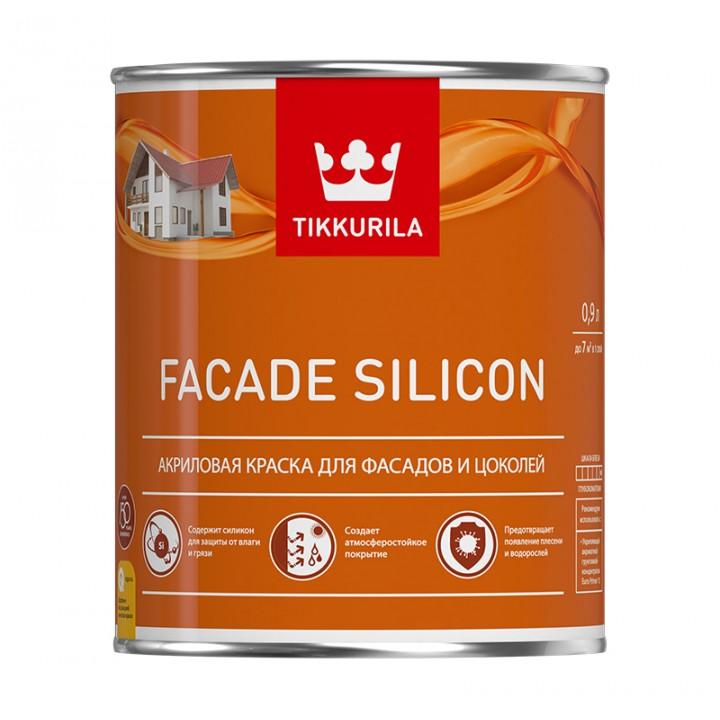 TIKKURILA FACADE SILICON краска акриловая для фасадов и цоколей