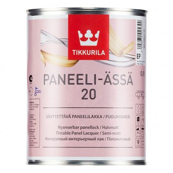 TIKKURILA PANEELI-ASSA 20 лак для деревянных панелей полуматовый