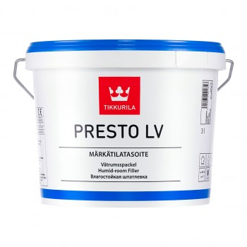 TIKKURILA PRESTO LV шпатлевка влагостойкая