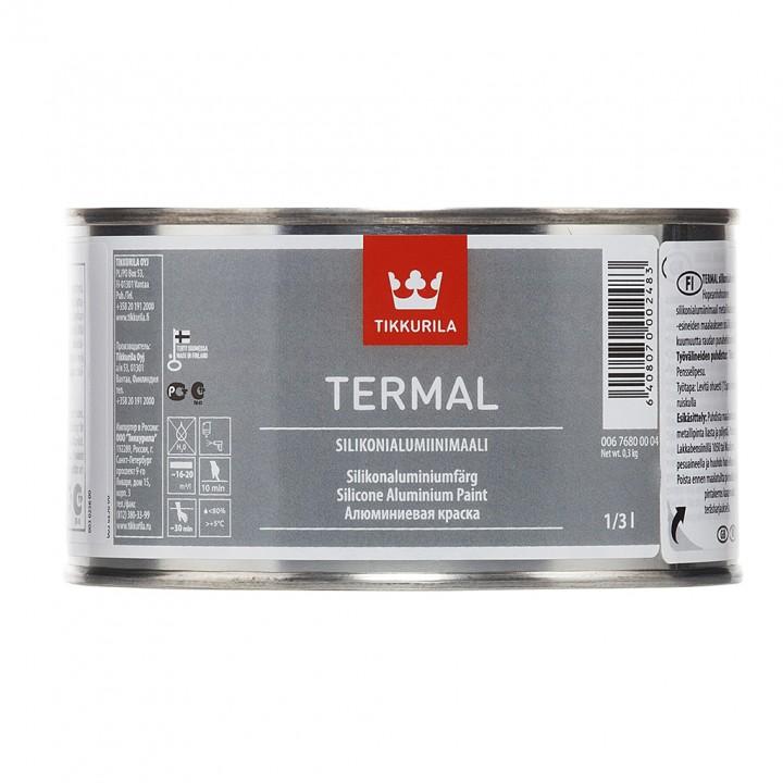 TIKKURILA TERMAL краска термостойкая алюминиевая на основе силиконовой смолы