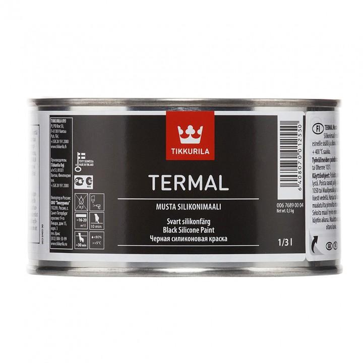 TIKKURILA TERMAL краска термостойкая черная на основе силиконовой смолы