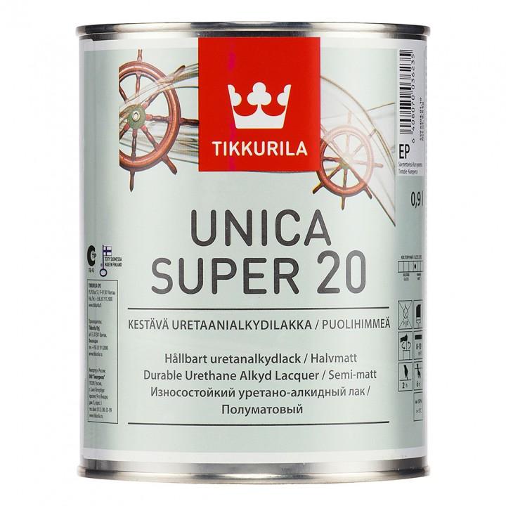 TIKKURILA UNICA SUPER 20 лак универсальный полуматовый