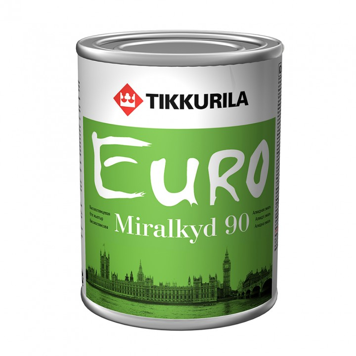 TIKKURILA EURO MIRALKYD 90 эмаль универсальная алкидная