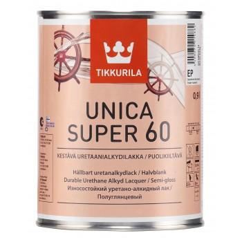 TIKKURILA UNICA SUPER 60 лак универсальный полуглянцевый