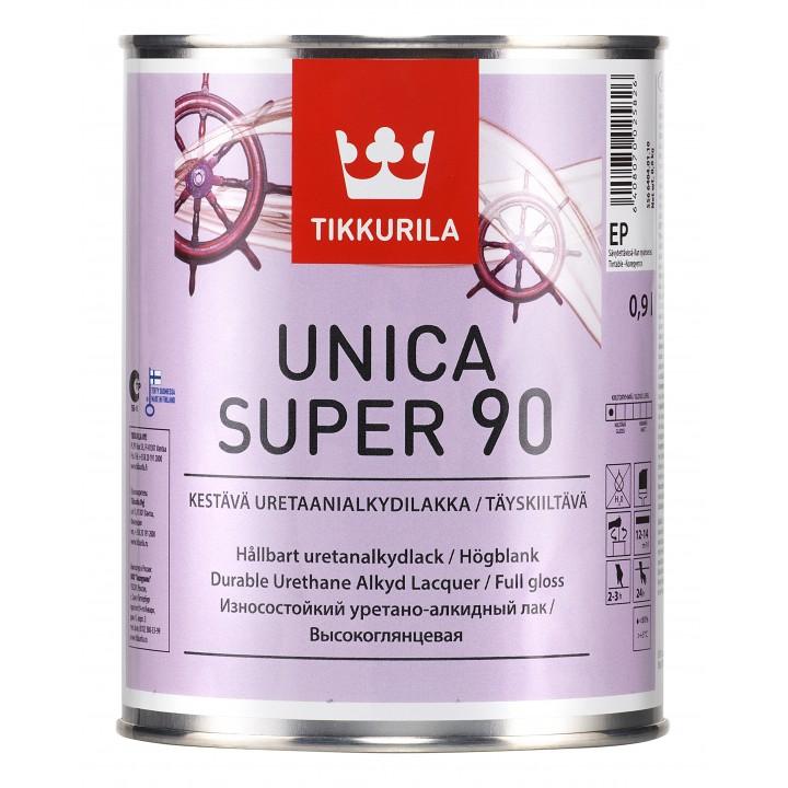 TIKKURILA UNICA SUPER 90 лак универсальный высокоглянцевый
