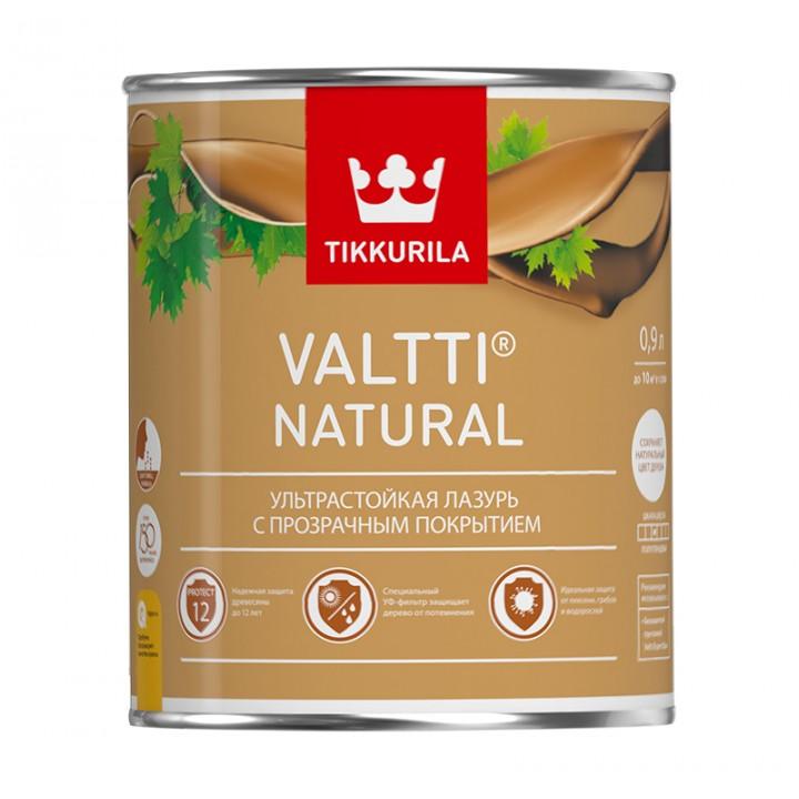 TIKKURILA VALTTI NATURAL лазурь ультрастойкая с прозрачным покрытием