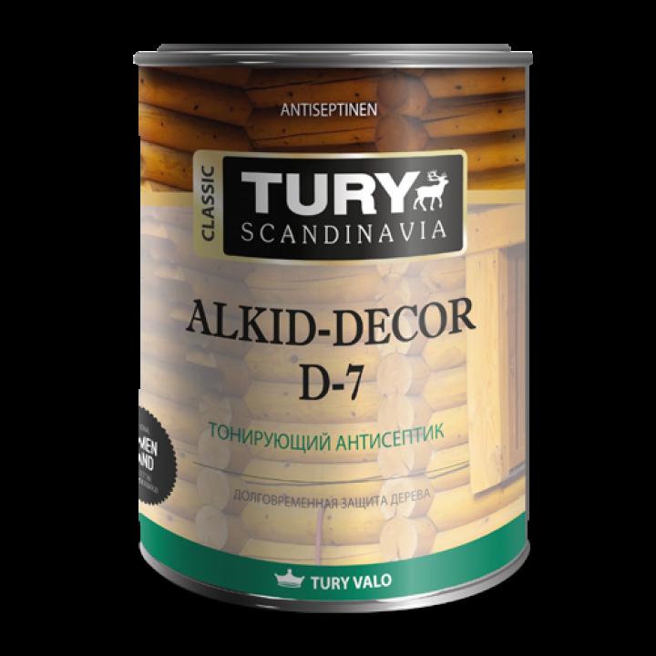 TURY D-7 ALKID-DEKOR тонирующий антисептик