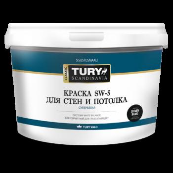 TURY SW-5 краска для стен и потолка супербелая