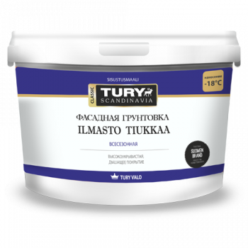 TURY ILMASTO Tiukkaa грунтовка фасадная всесезонная АК-015Ф