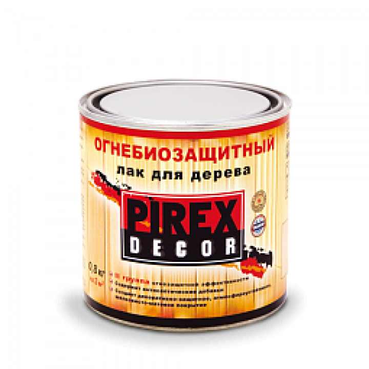 PIREX - DECOR (II группа) огнебиозащитный лак для древесины