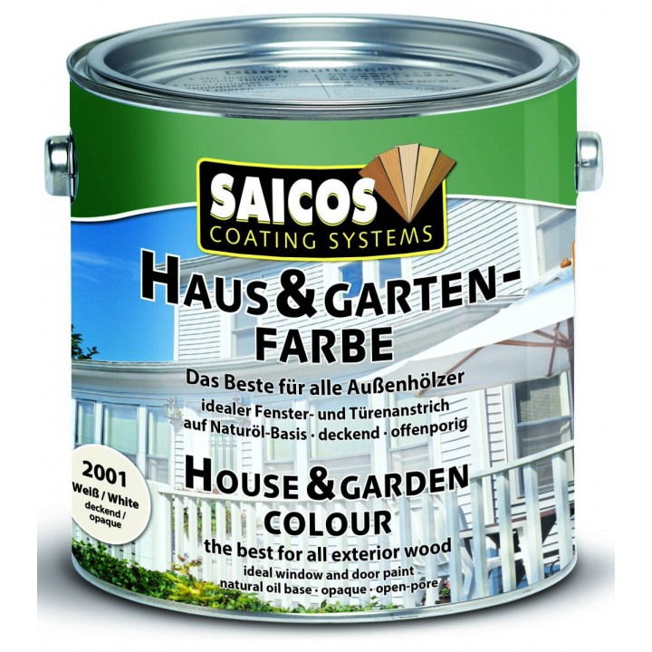 SAICOS HAUS & GARTEN-FARBE краска по дереву для наружных и внутренних работ