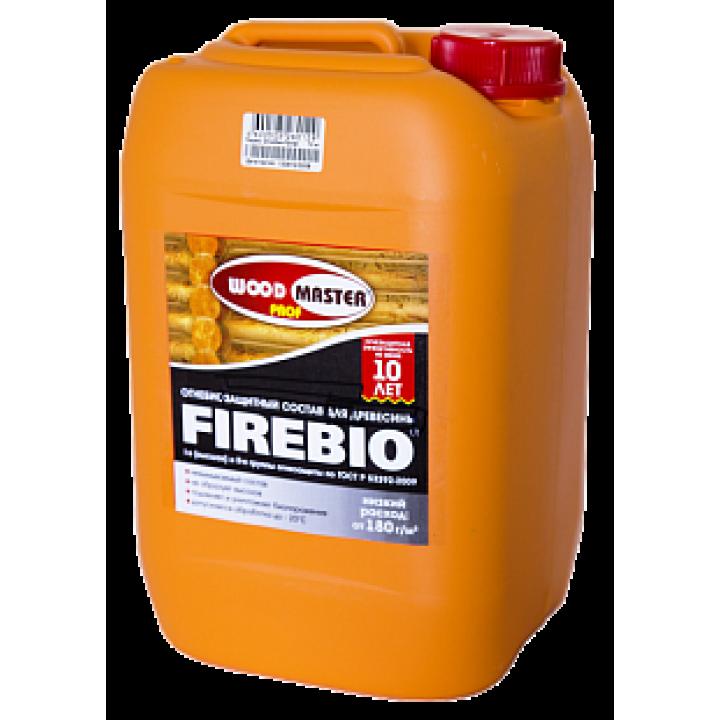 WOODMASTER PROF FIREBIO огнебиозащитный пропиточный состав для древесины (I и II группы)