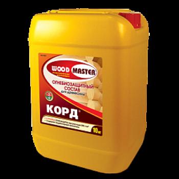 WOODMASTER КОРД (II группа) огнебиозащитный состав для древесины