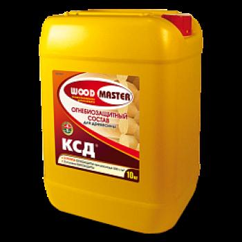 WOODMASTER КСД (II группа) огнебиозащитный пропиточный состав для древесины и тканей